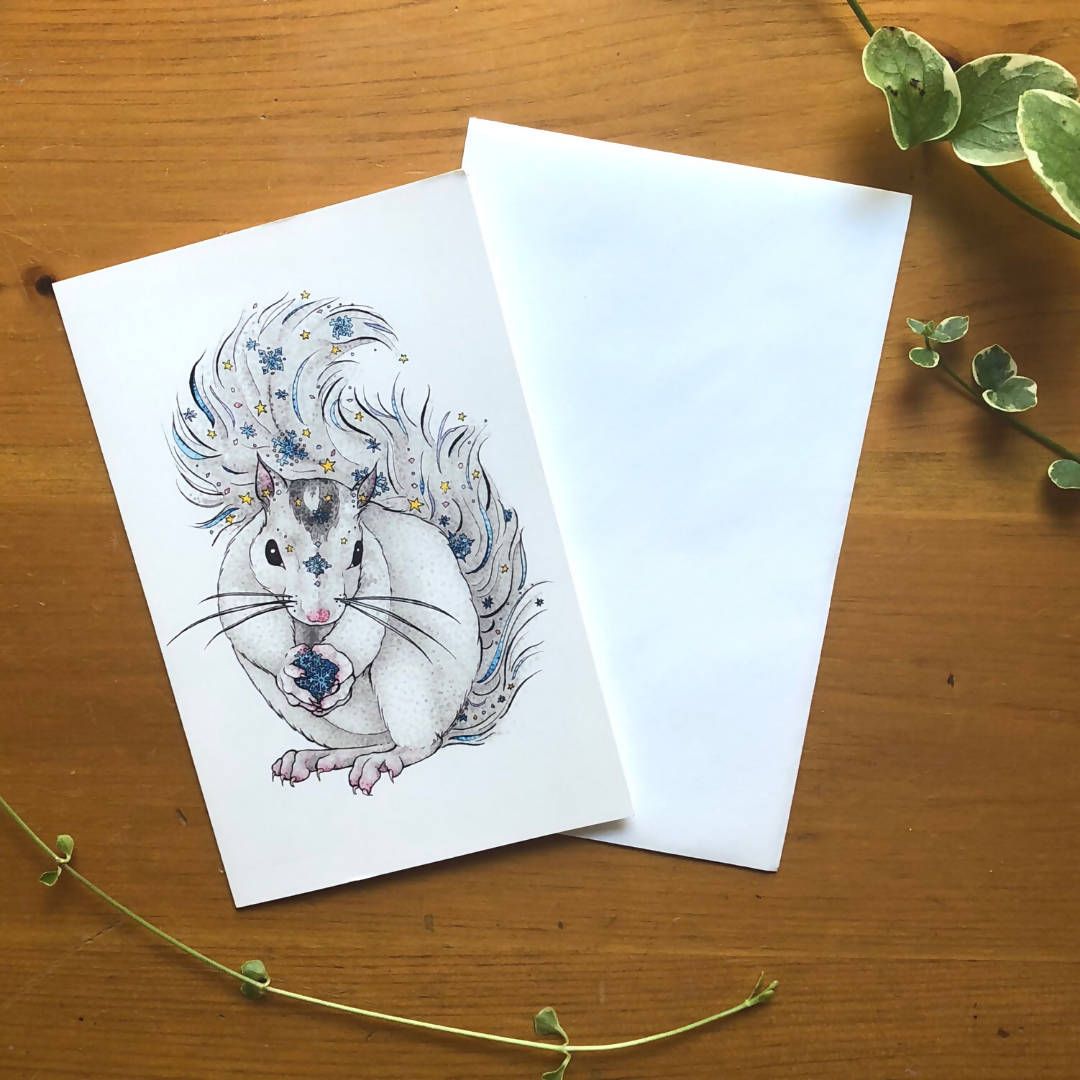 Collector (Squirrel) Greeting Card