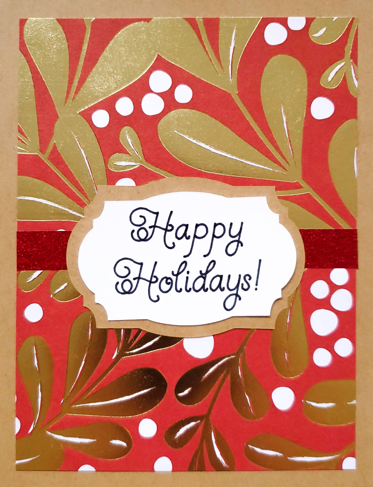 Red and Gold Holiday Card (2 Greetings Available)