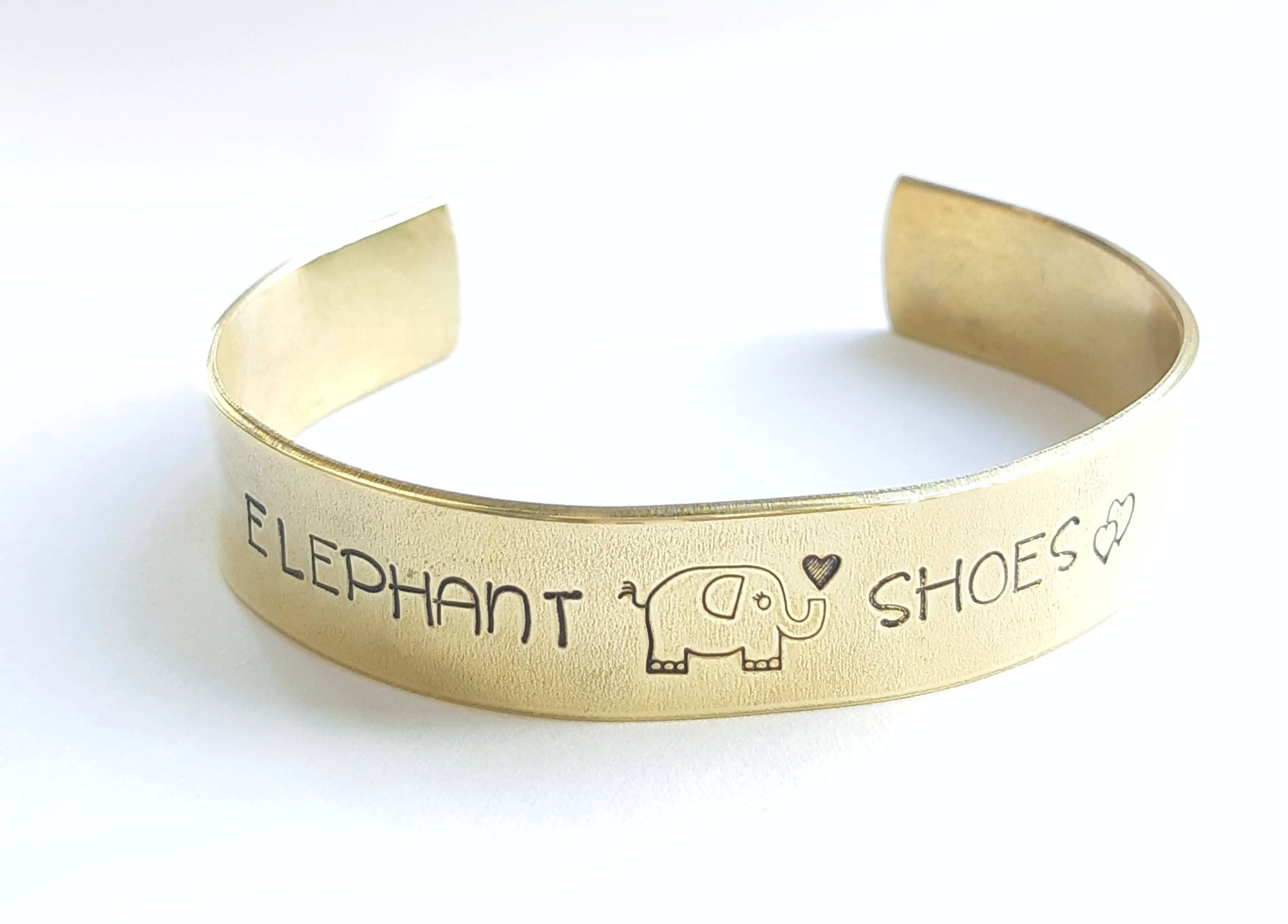 Elephant Shoes Brass Cuff