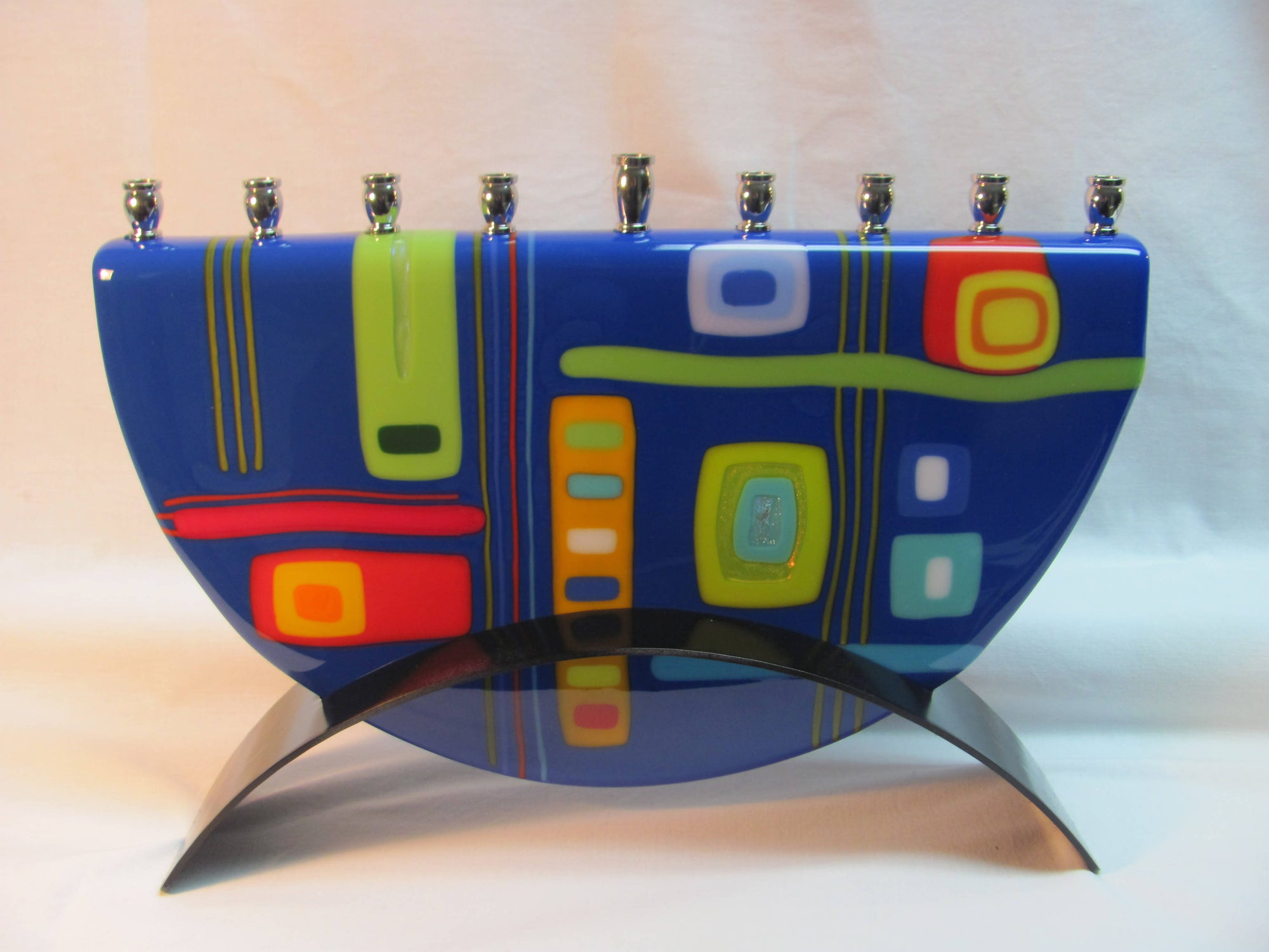 Menorah - Fused Glass - Kadinsky