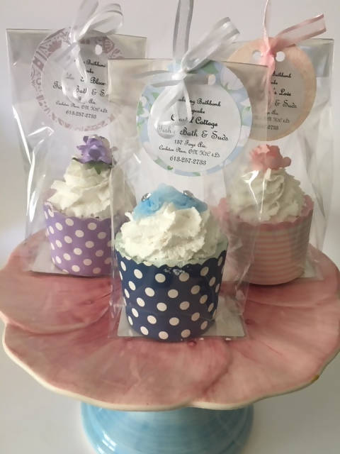 Bubbling Bath Bomb Cupcake (Large)