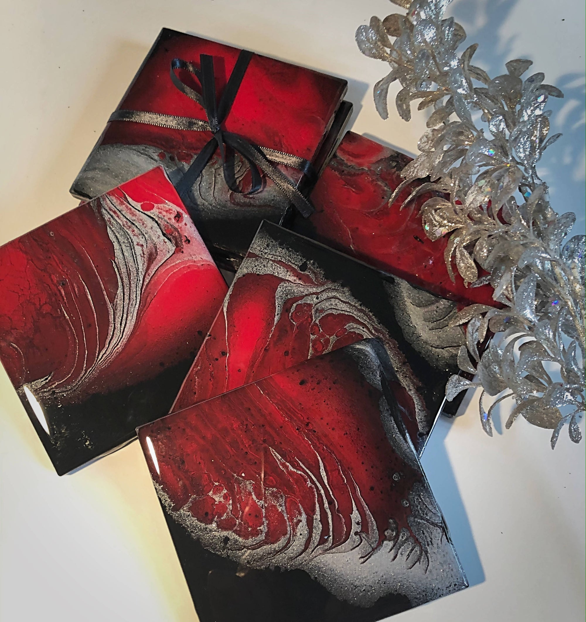 All About Red - coasters - Set of 4
