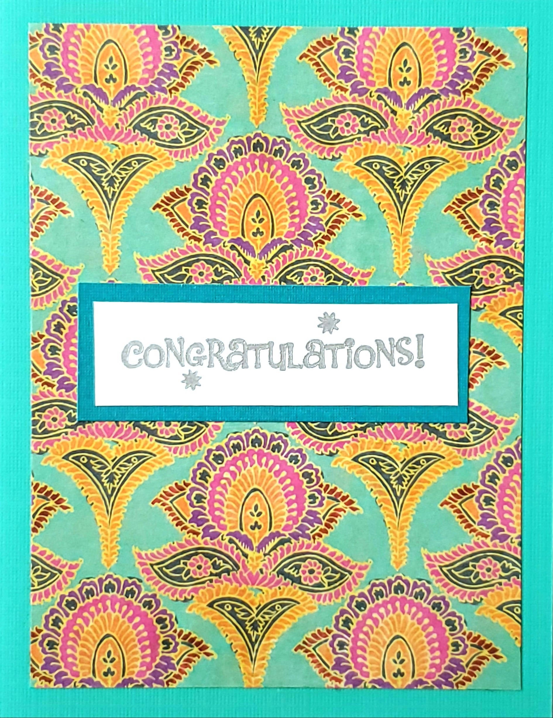 Congratulations Card (Party Turquoise)