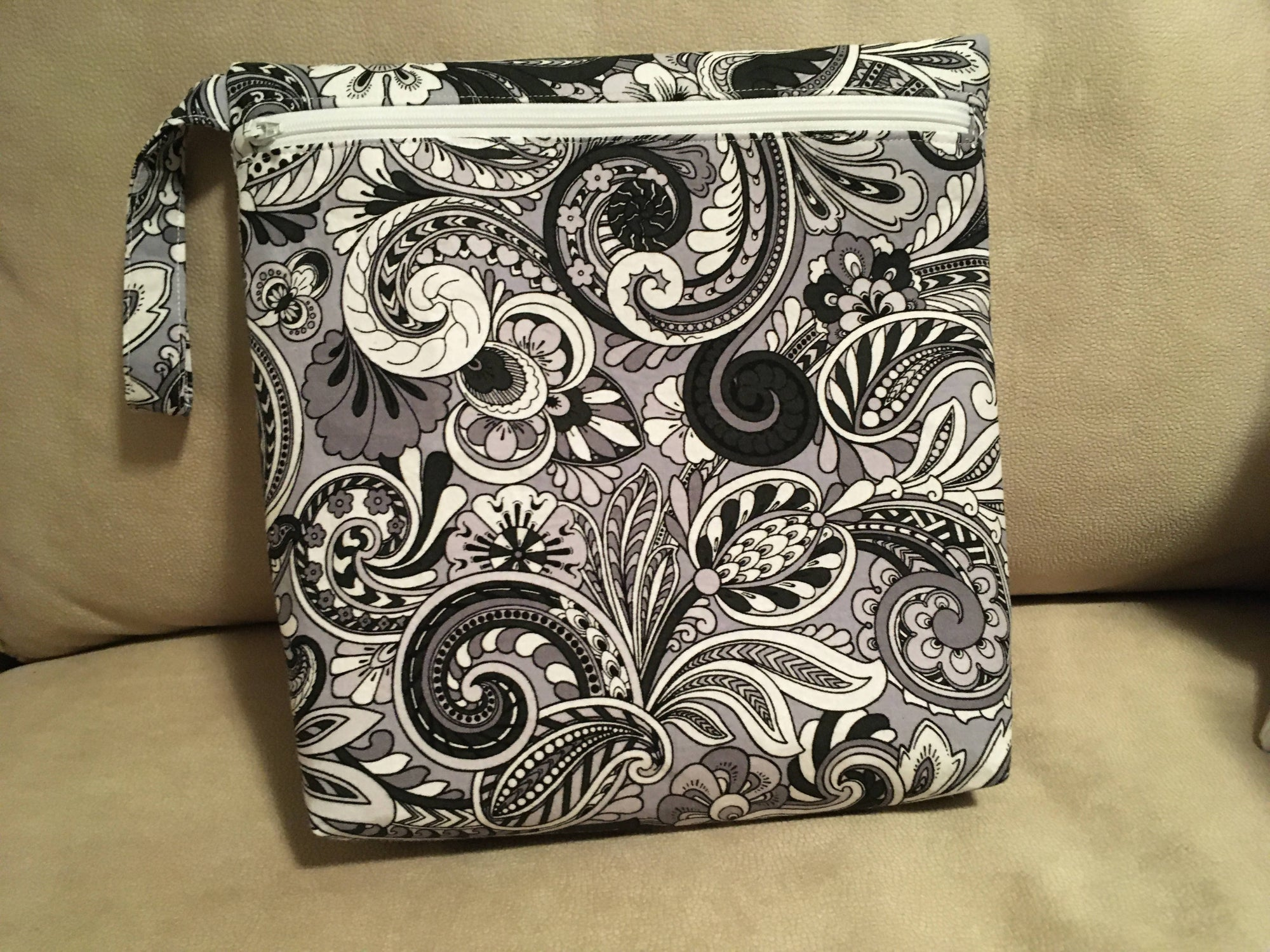 Baby diaper and wipes bag
