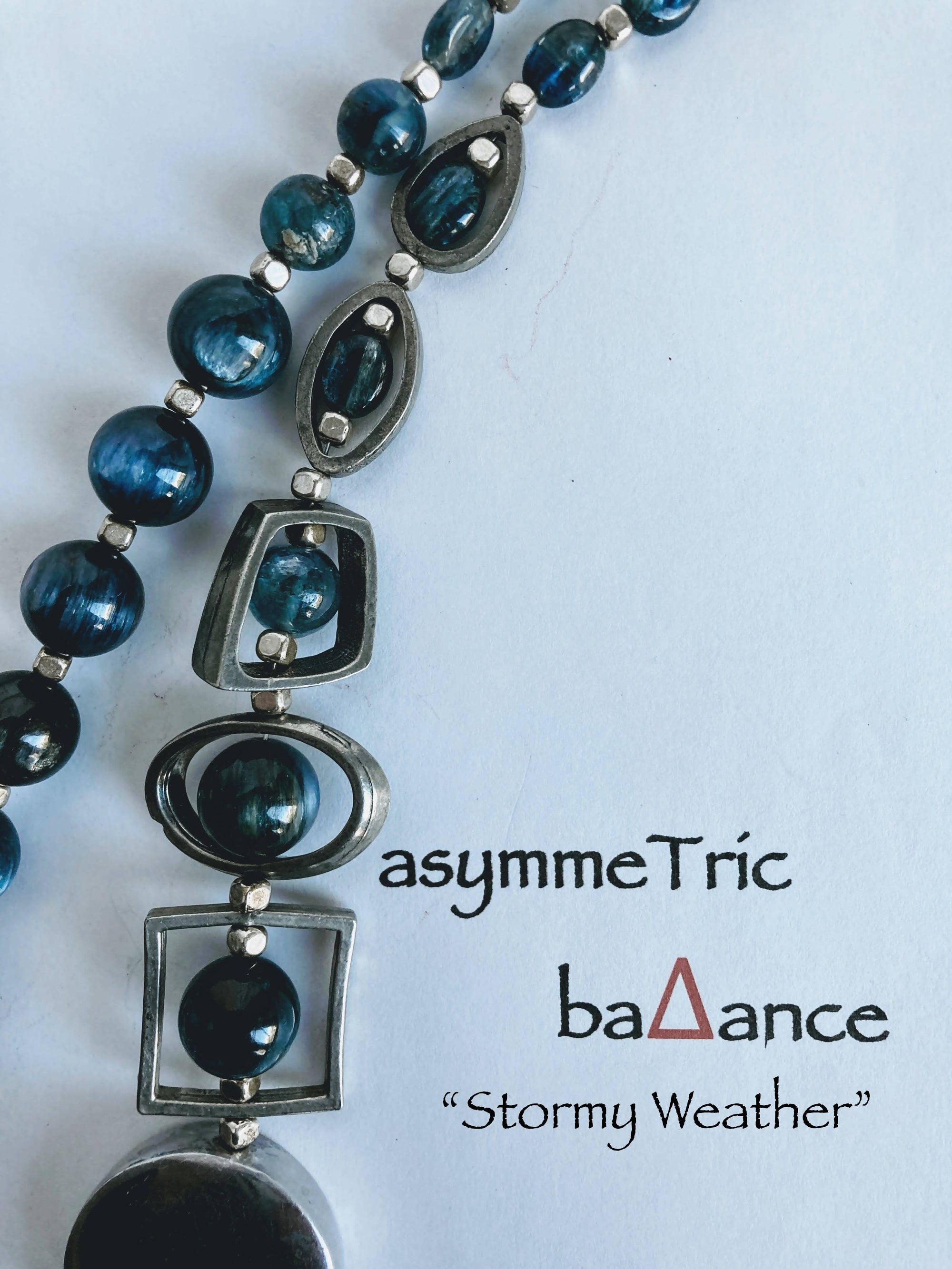 Stormy Weather – an elegant minimalist asymmetric statement necklace