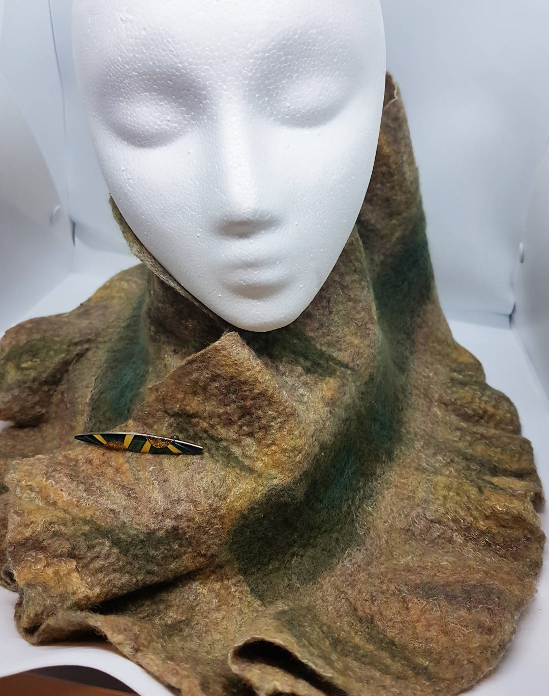 A cozy felted scarf