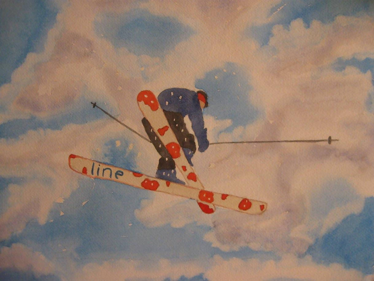 """Flyin' High"" Watercolor Painting"