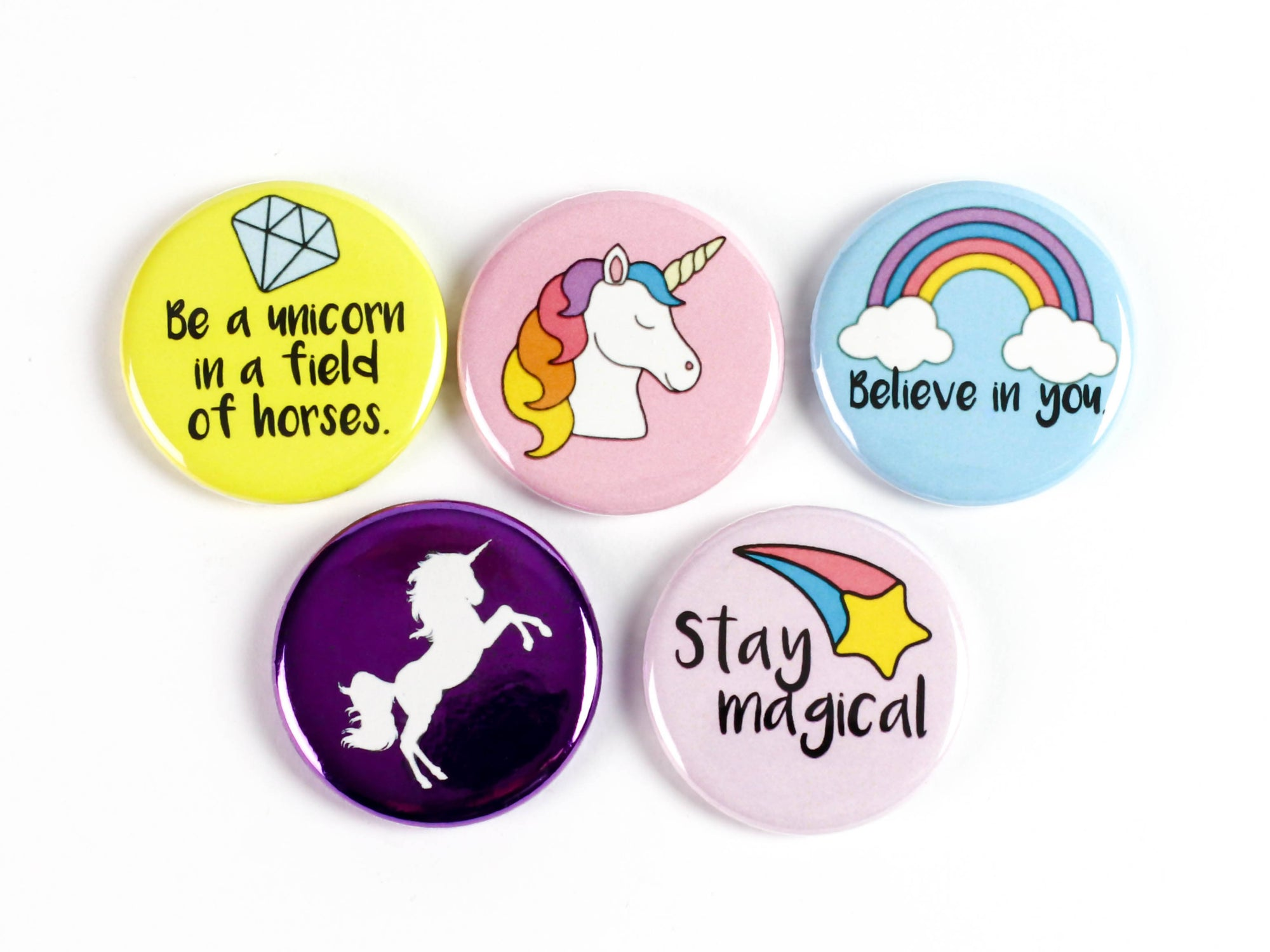 Shiny Unicorn! Magnets Or Pinback Buttons for Unicorn lovers!