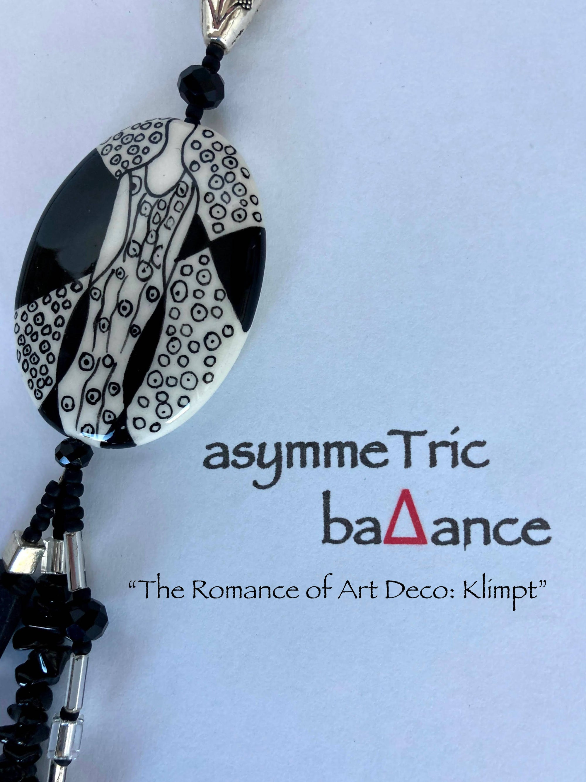 The Romance of Art Deco : Klimpt asymmetric statement necklace