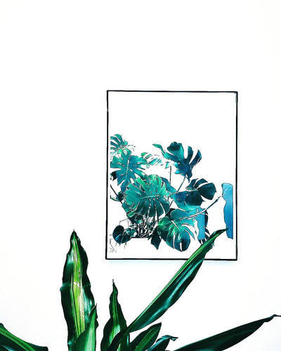 Monstera Deliciosa Plant Print x Charity