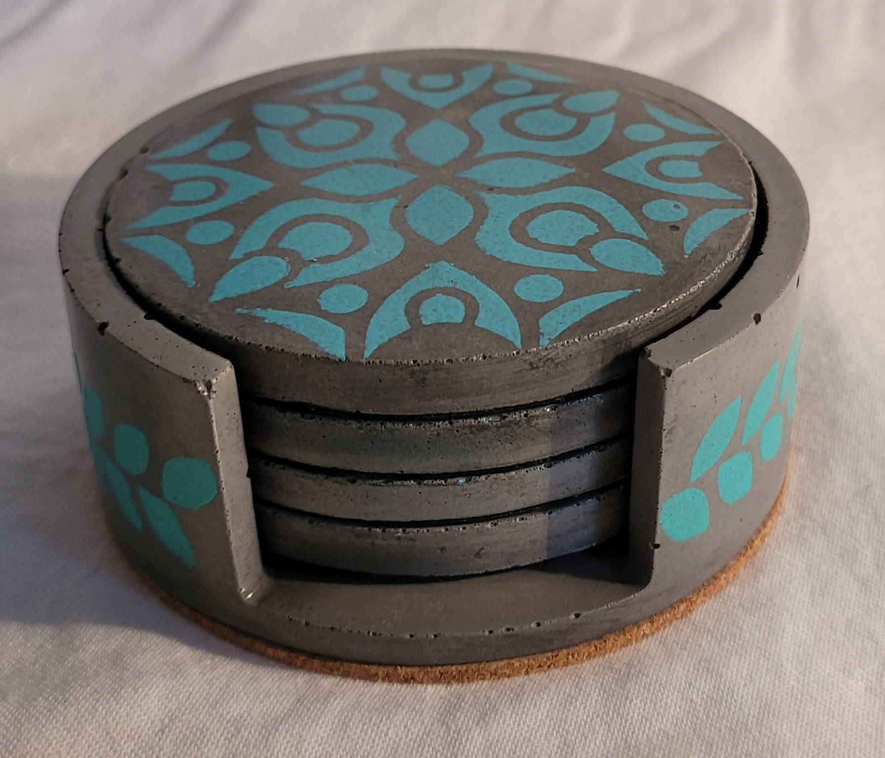 Handmade cement coaster sets