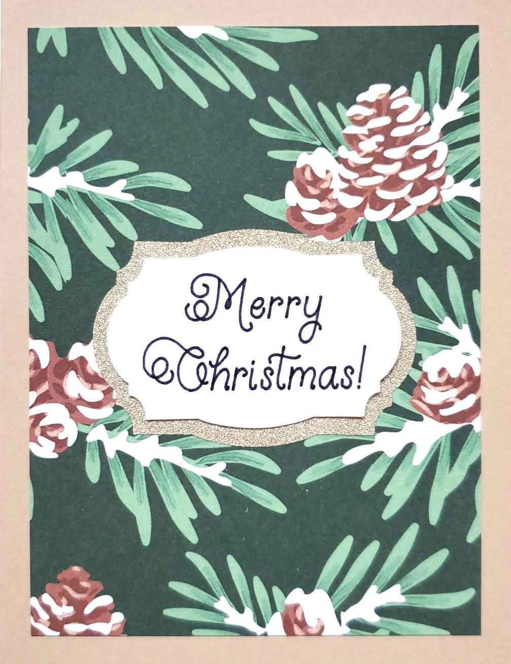 Pine Tree Holiday Card (2 Greetings Available)