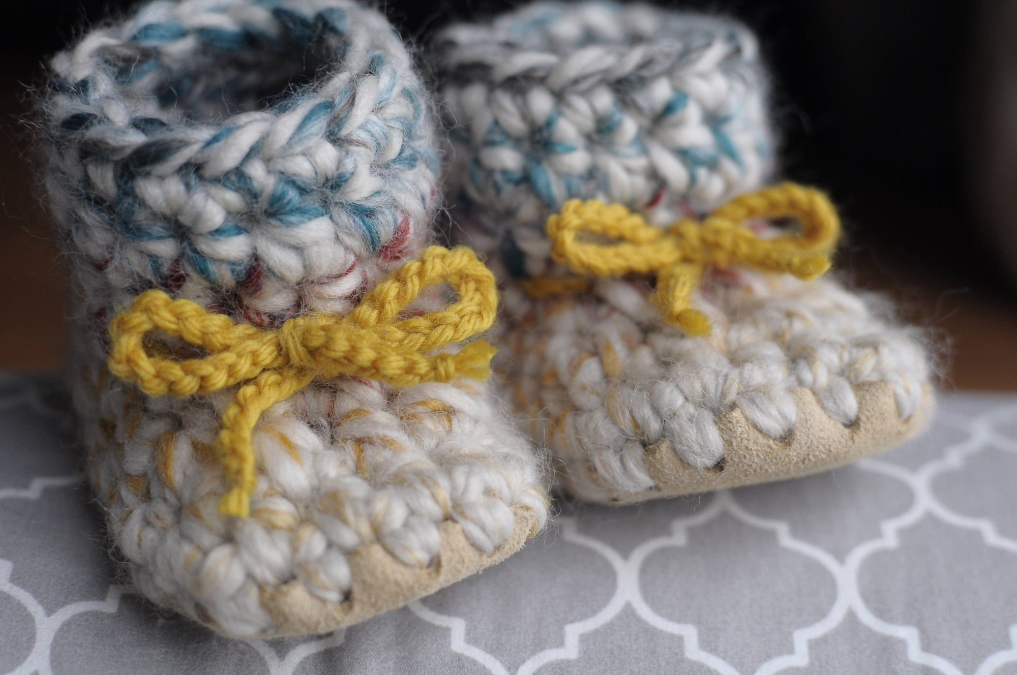 HUDSON BABY BOOTIES / SHOES WITH TIES (customizable)