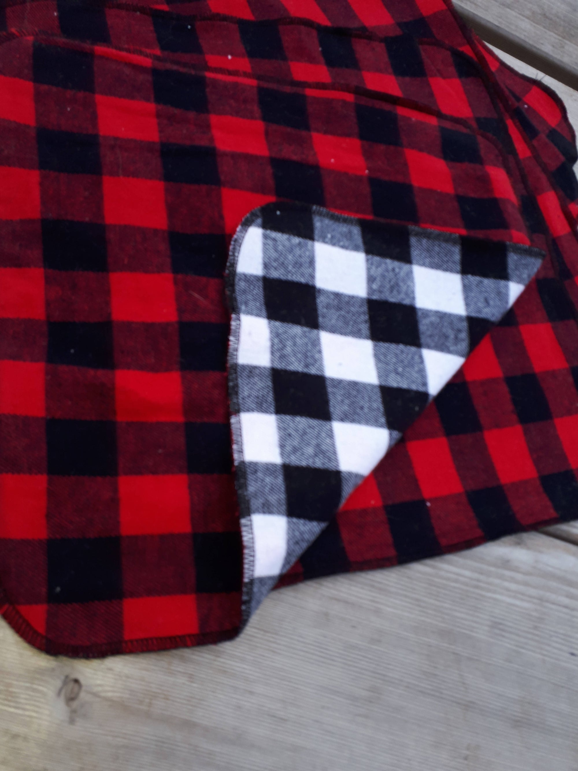 Buffalo Plaid reusable cloth napkins / paper towels