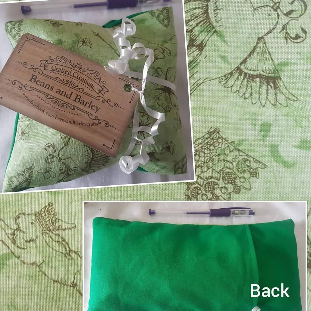 ache bag - bunnies and butterflies green back *pick up only*
