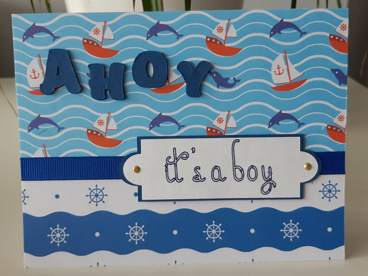 Ahoy It's a Boy Greeting Card
