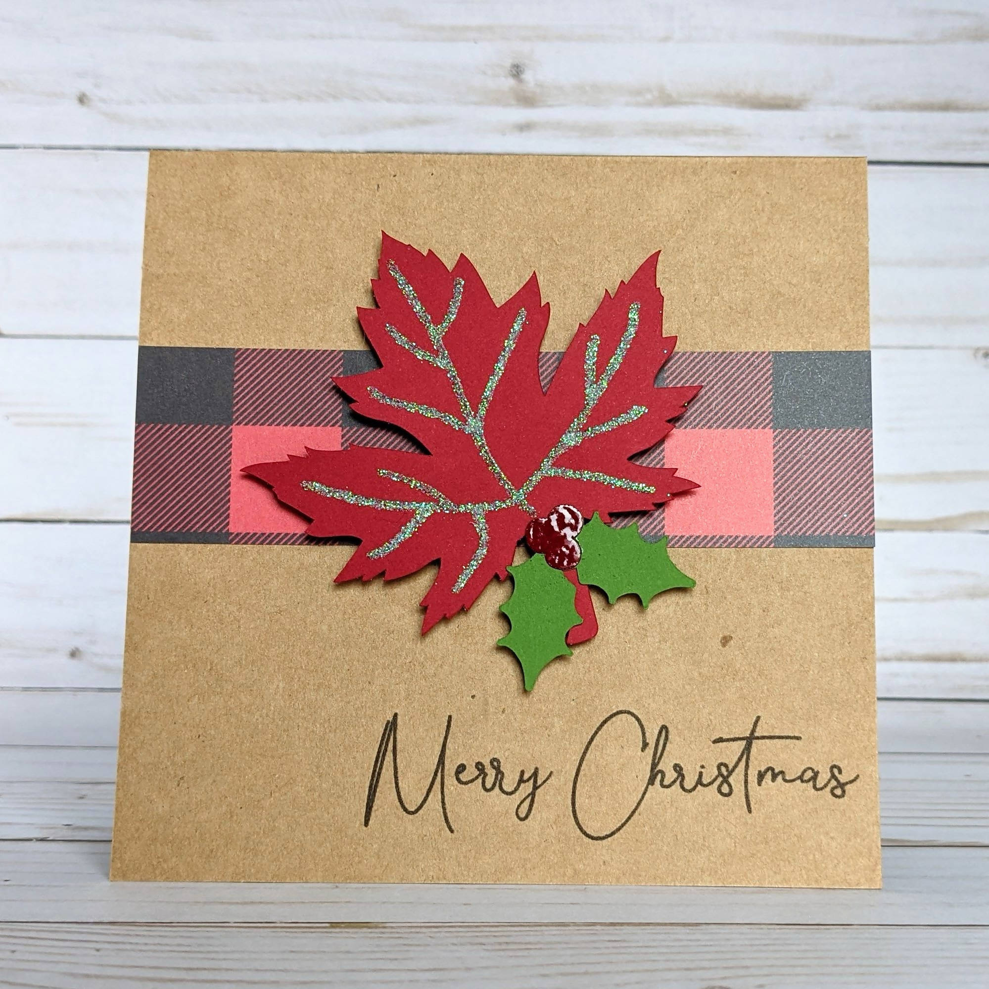 Canadian Christmas Card - Maple Leaf