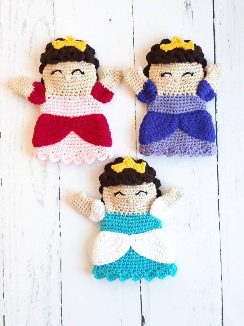 Crocheted Princess Puppet