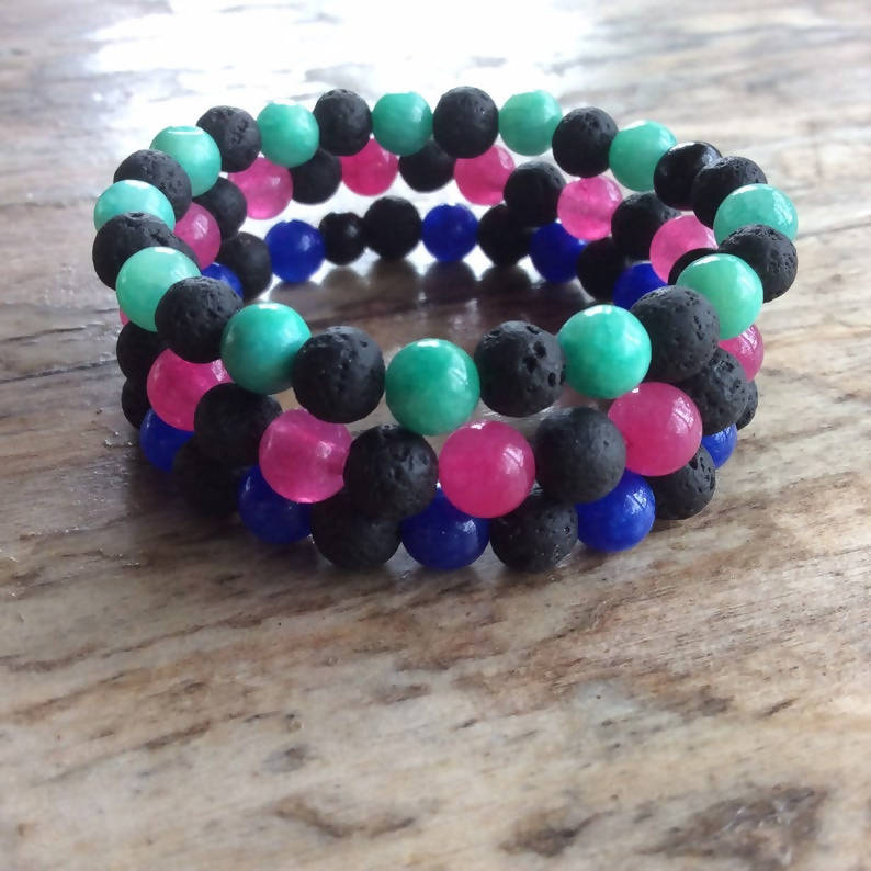 Childrens Stretch Beaded Diffuser Bracelet