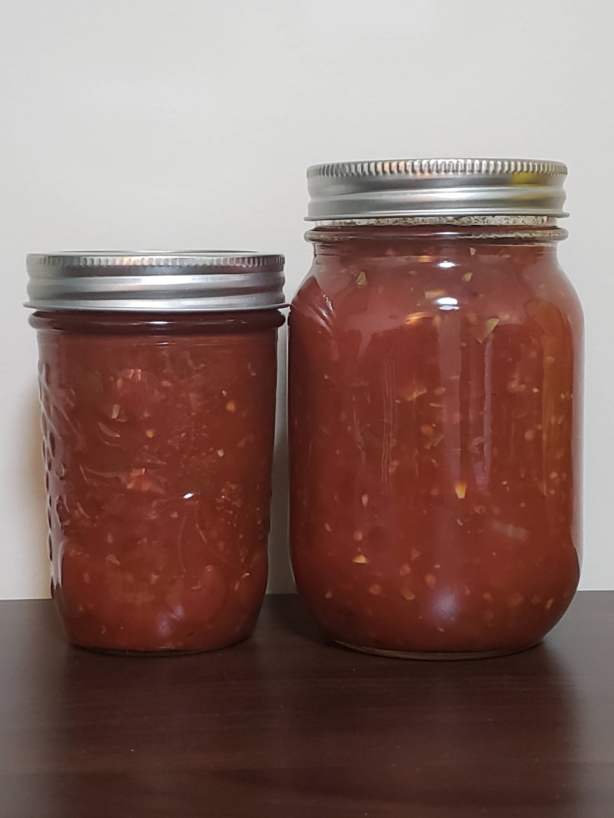 Homemade local Salsa- mild and spicy