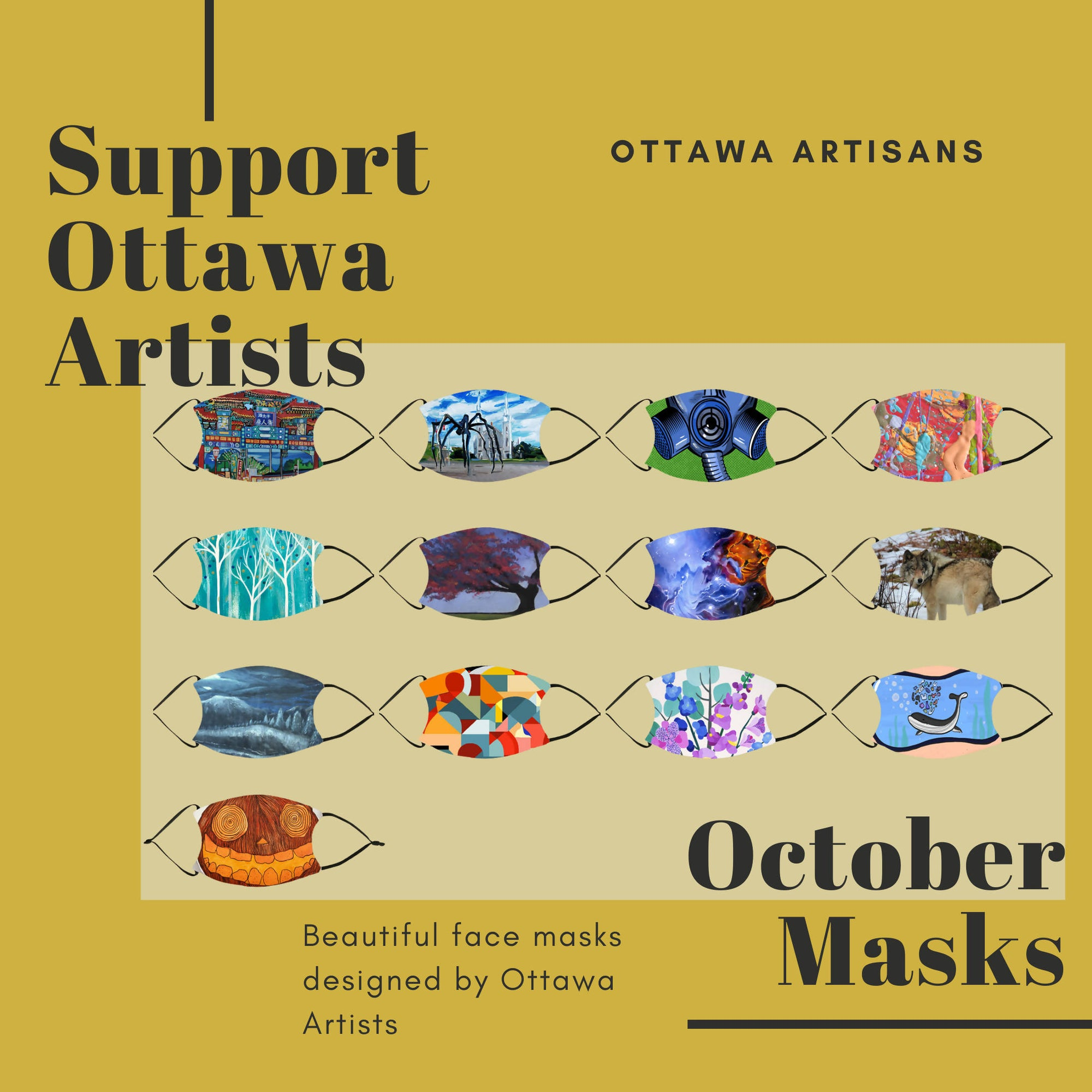 Ottawa Artist Masks - October