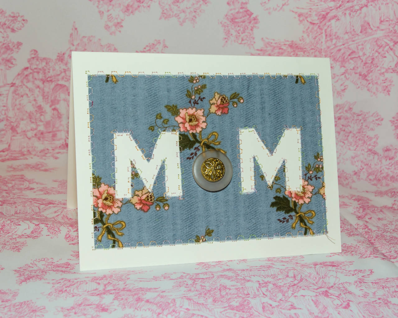 Mother's Day Greeting Card - Handmade - Flowery