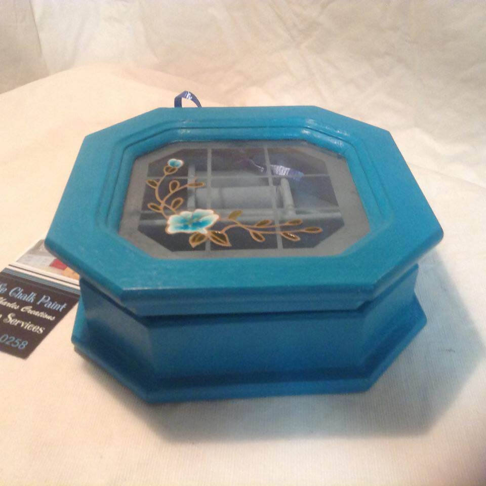 Aqua Blue Jewelry Box