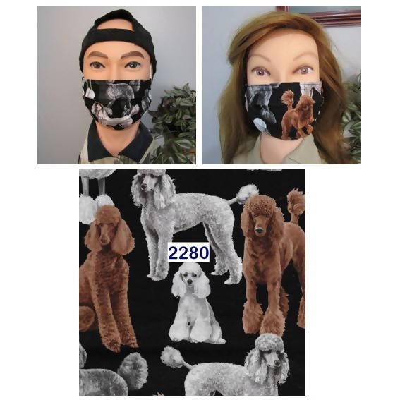 ✤I LOVE MY POODLE✤ Reusable Face Masks (#2280)