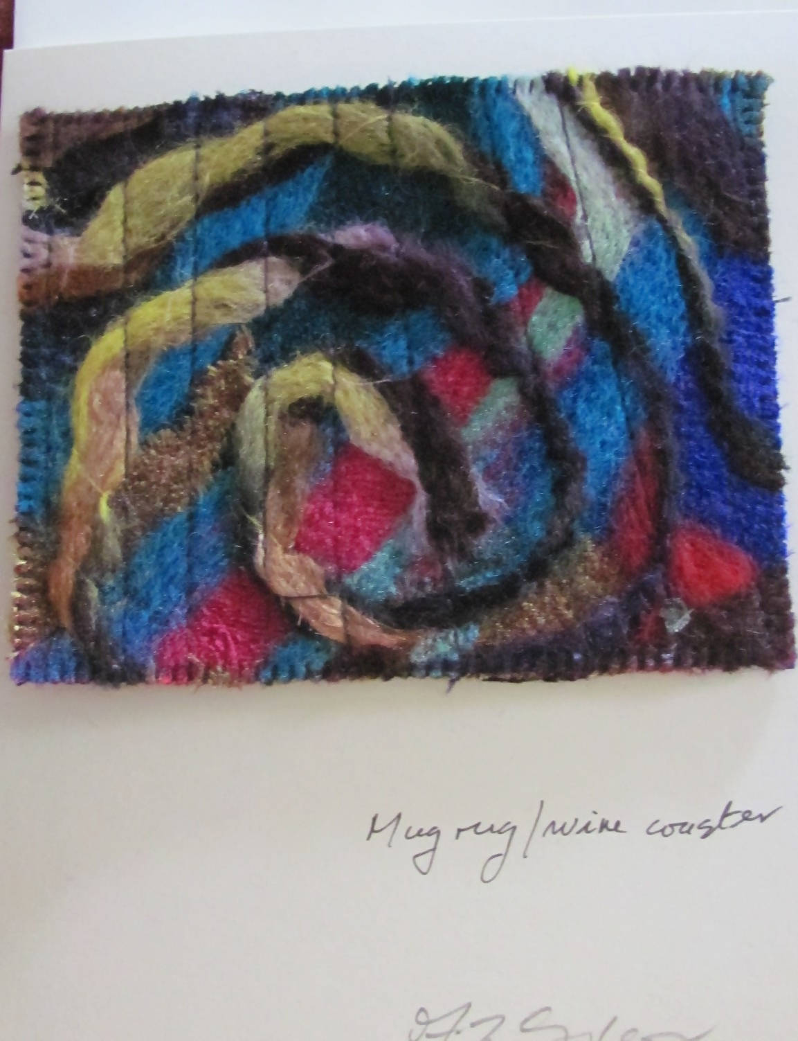 """Art-to send -- Original mini-artwork coaster greeting card"""