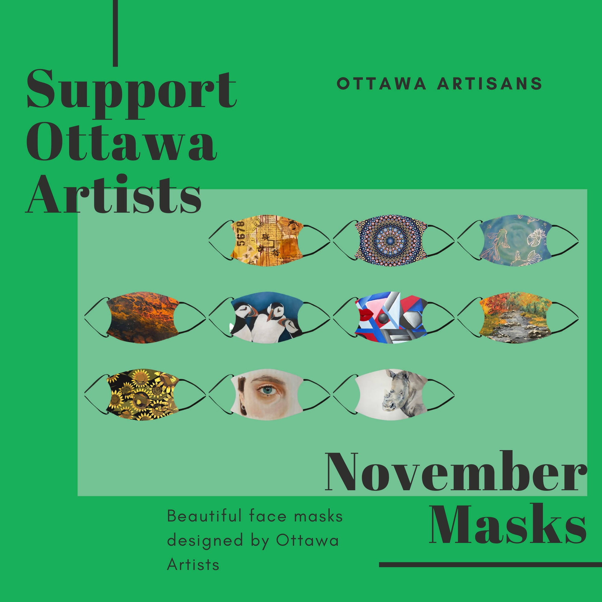 Ottawa Artist Masks - November