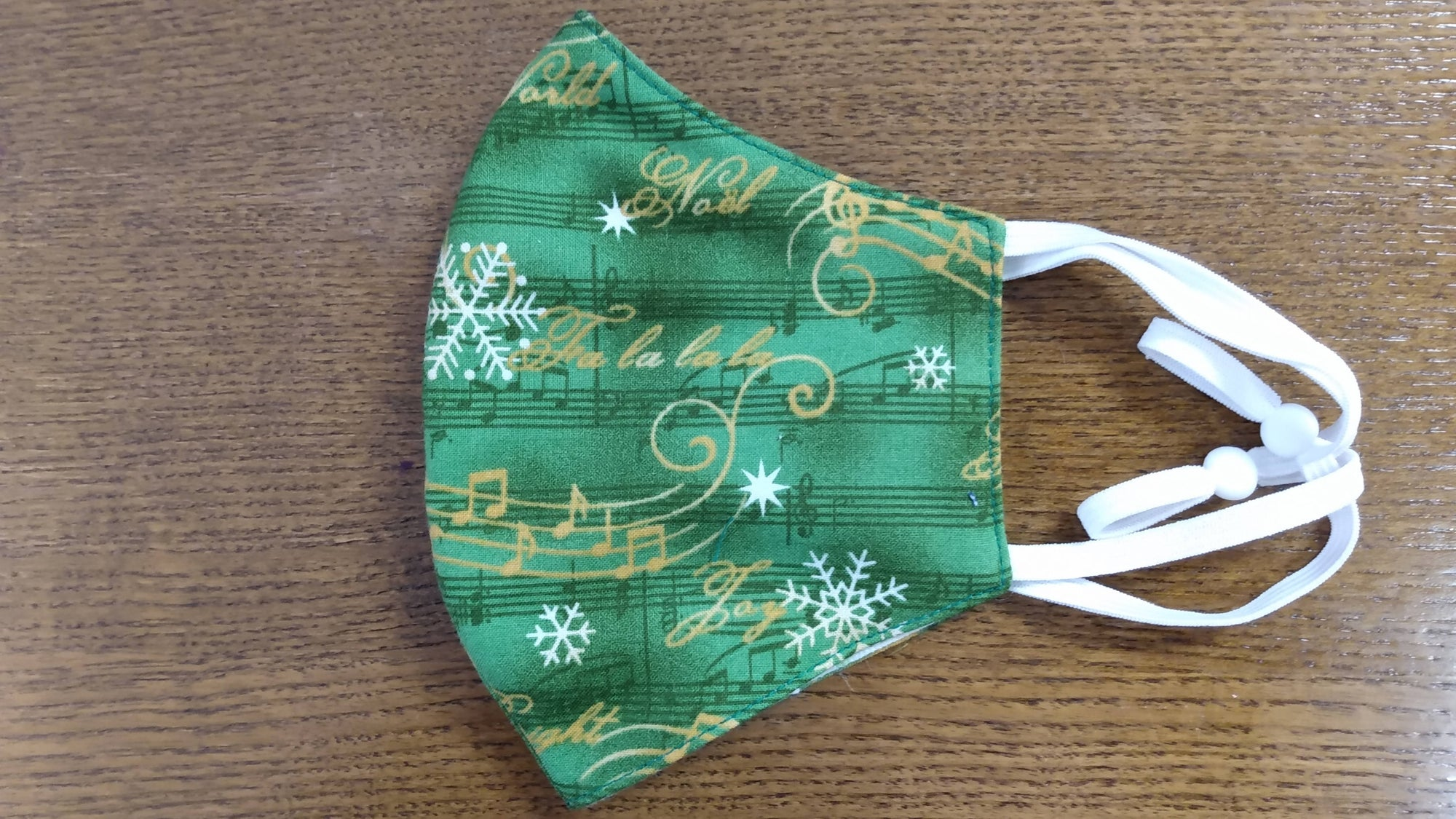 Christmas Themed Fa la la la Mask For The Music Lover