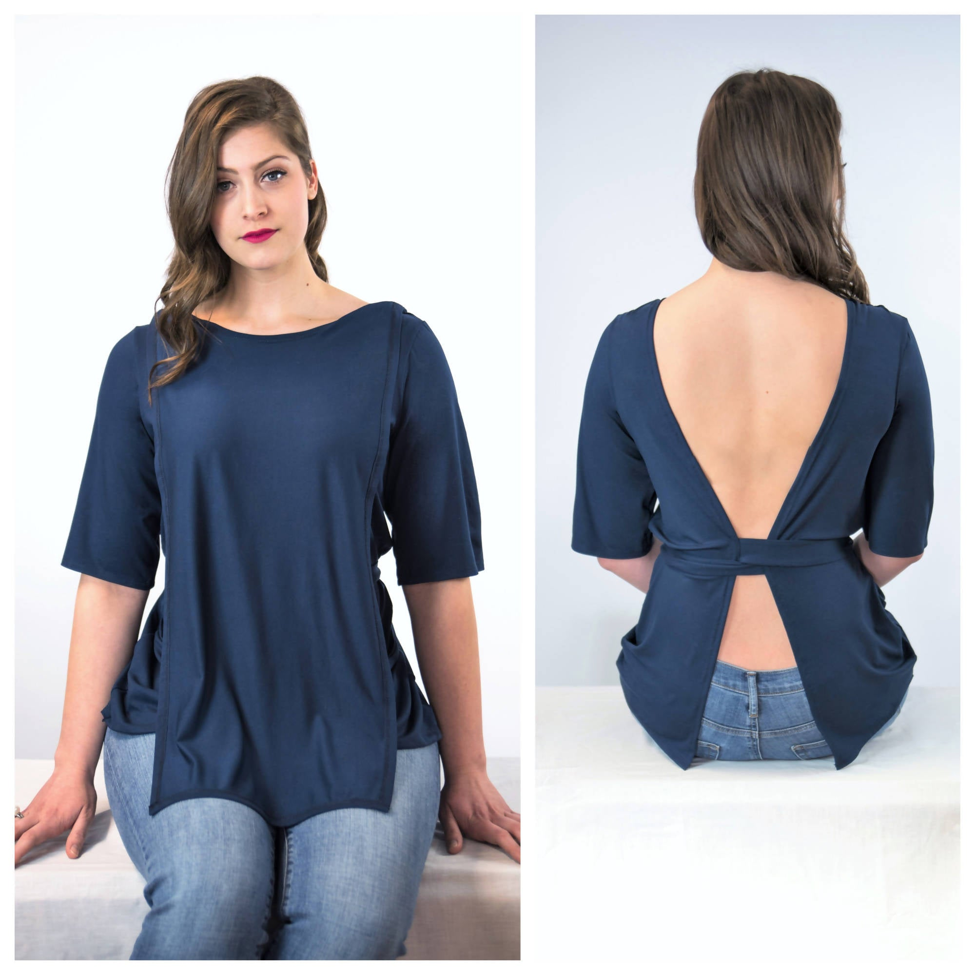 Unisex Bamboo Patient Medical Top for Back Injections/Needles/Treatments That Exposes Your Back