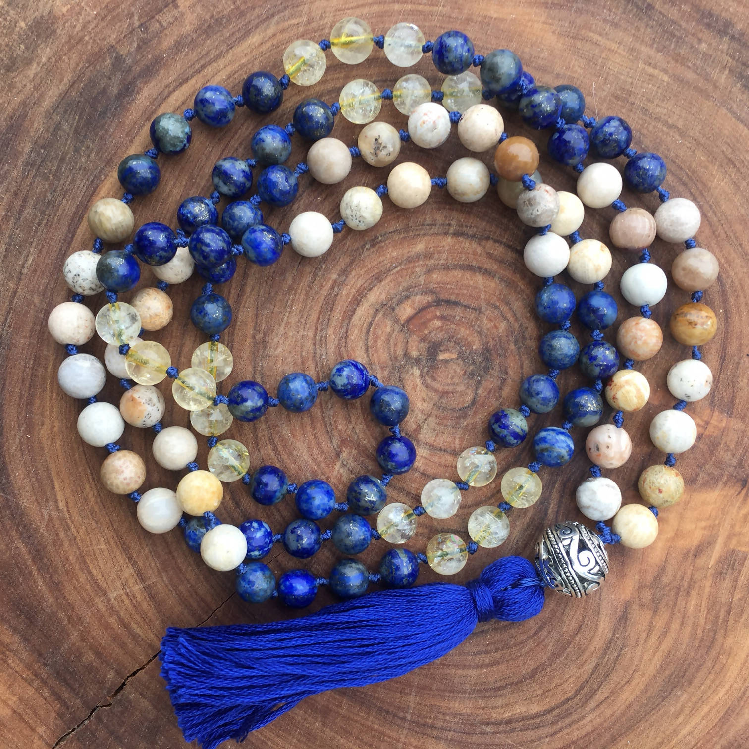 Manifest, attract success + integrate wisdom learned MALA Necklace