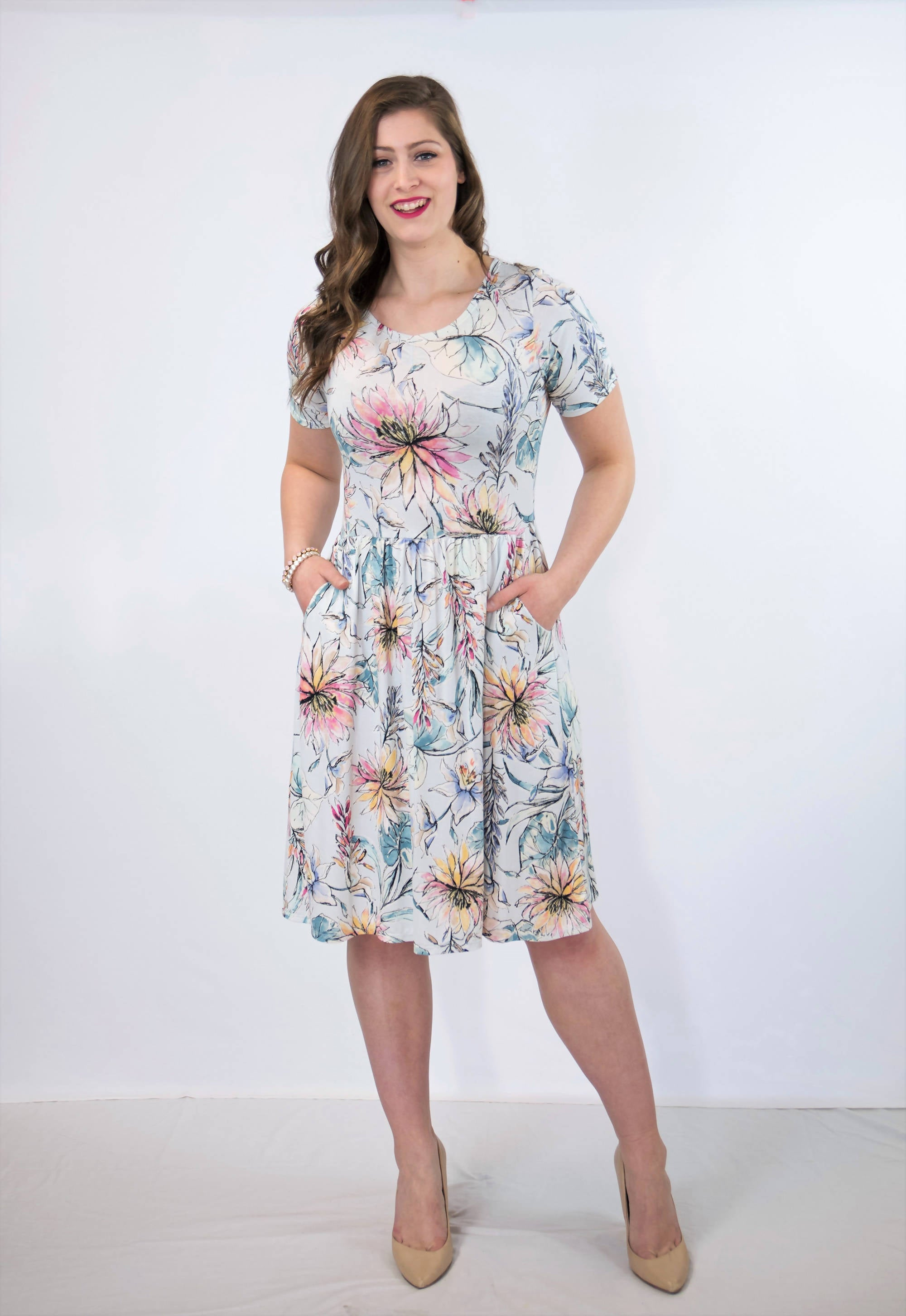 Lea Floral Dress with Pockets