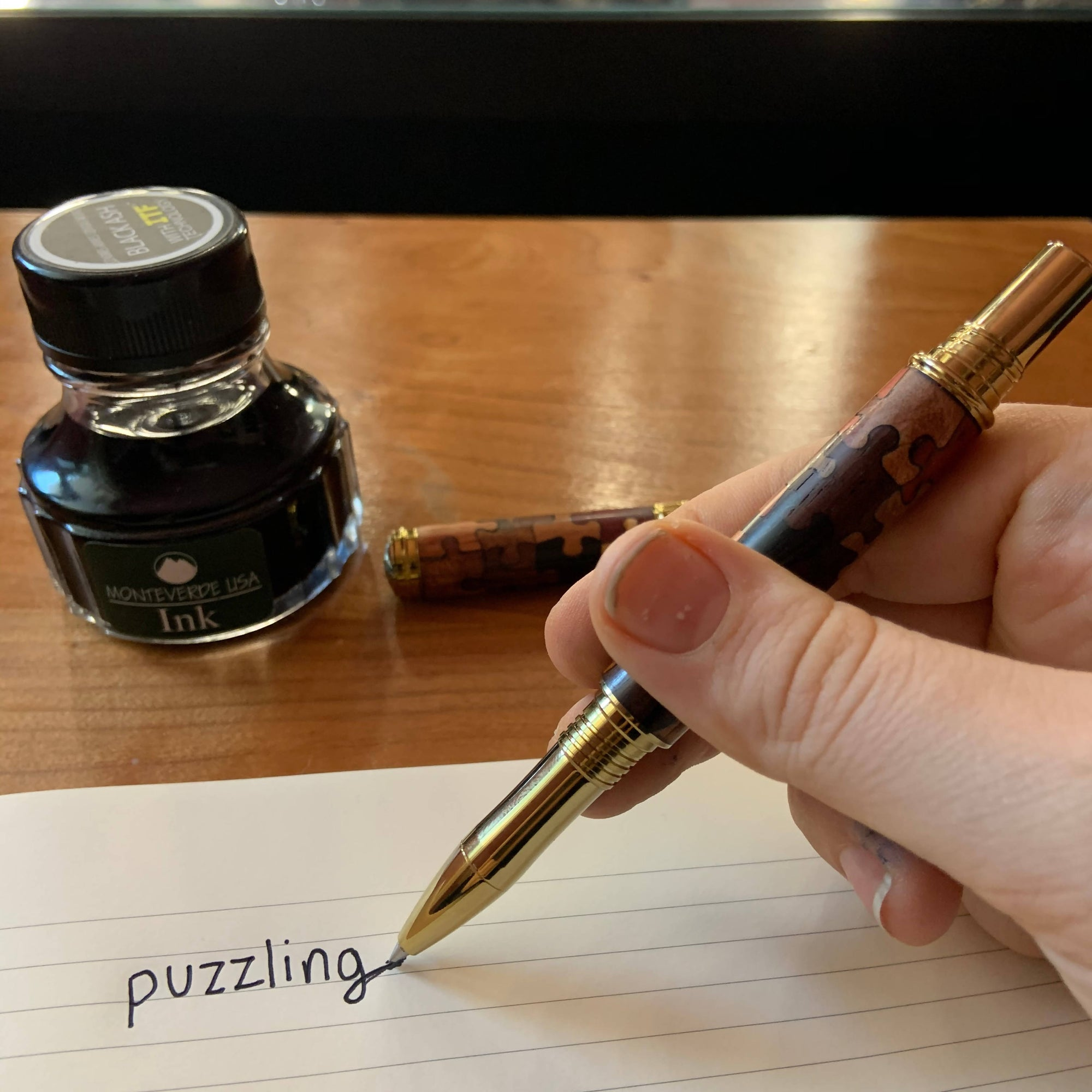 Puzzlingly unique Fountain or Rollerball Pen