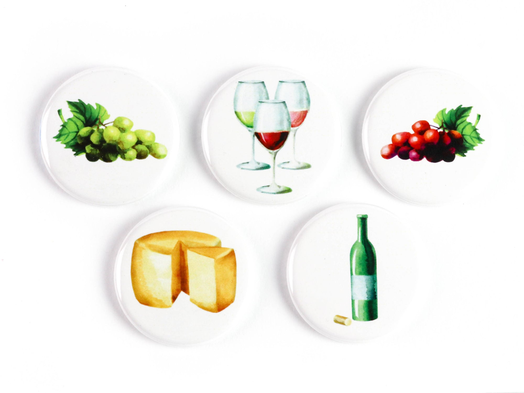 Wine Lovers Ceramic Magnets or Pinback Buttons: Supports The Ottawa Food Bank's Community Harvest Program