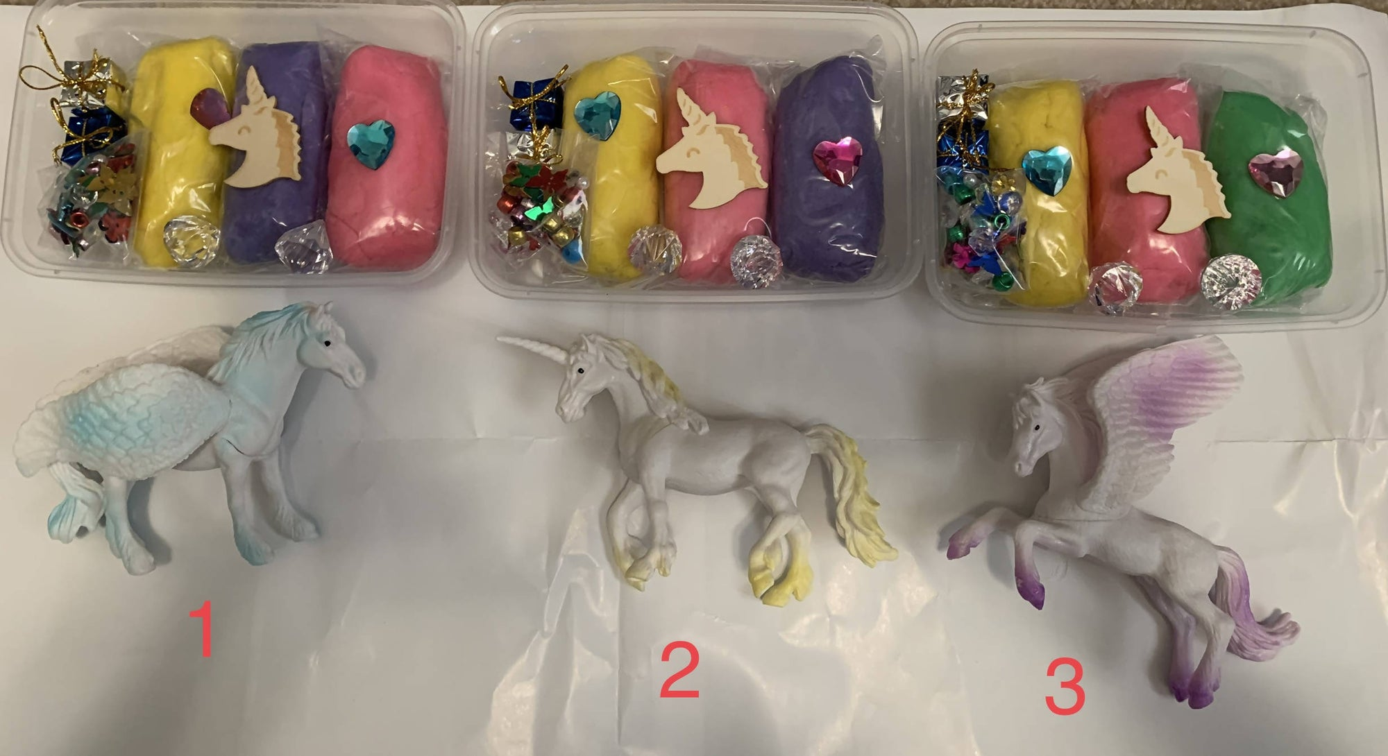 Large Unicorn Playdoh sets
