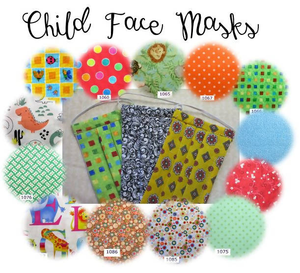 Child Face Mask (age 3 to 6) Wide selection of prints