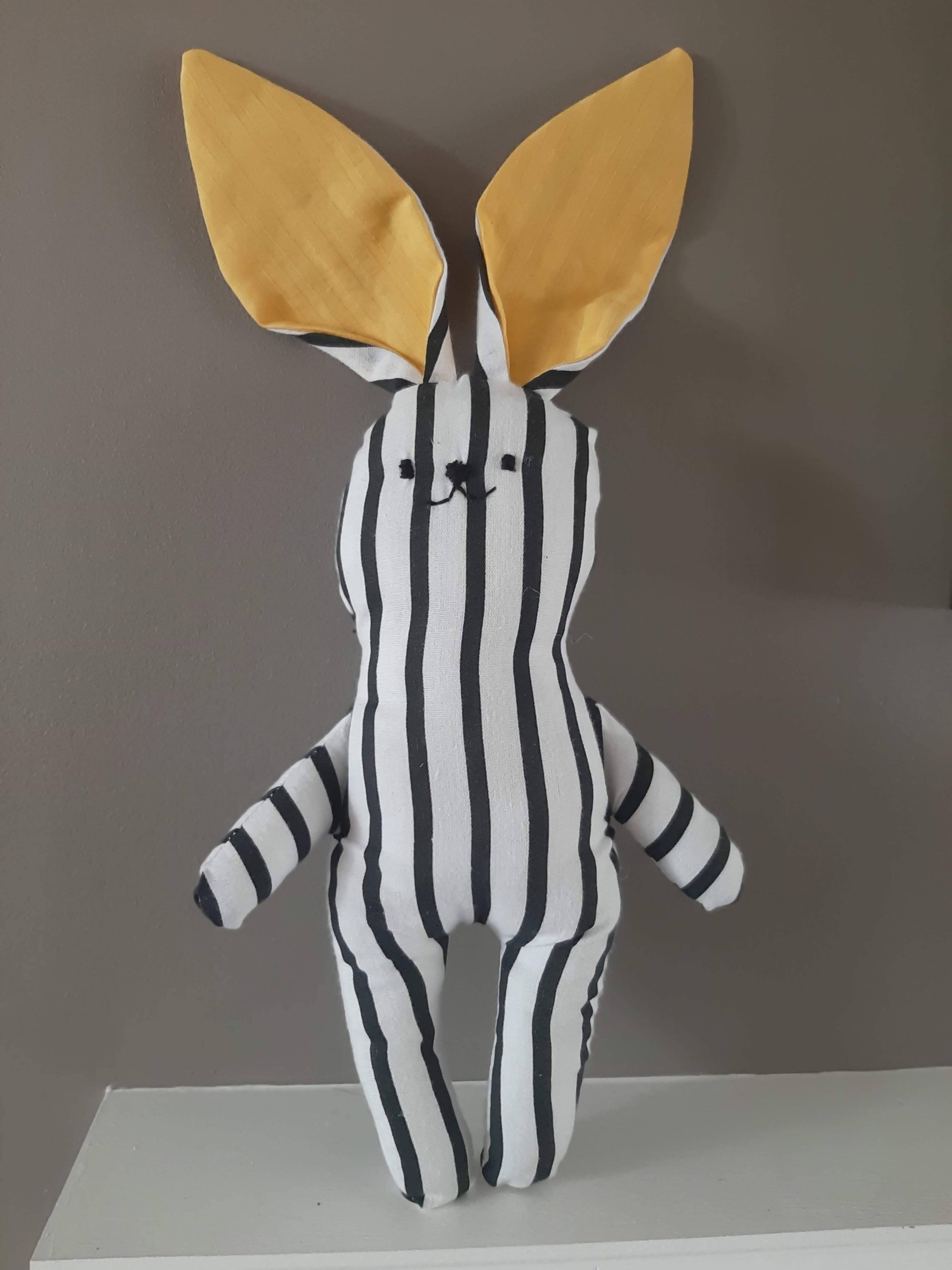 Stripy Stripes Bunny Soft Toy