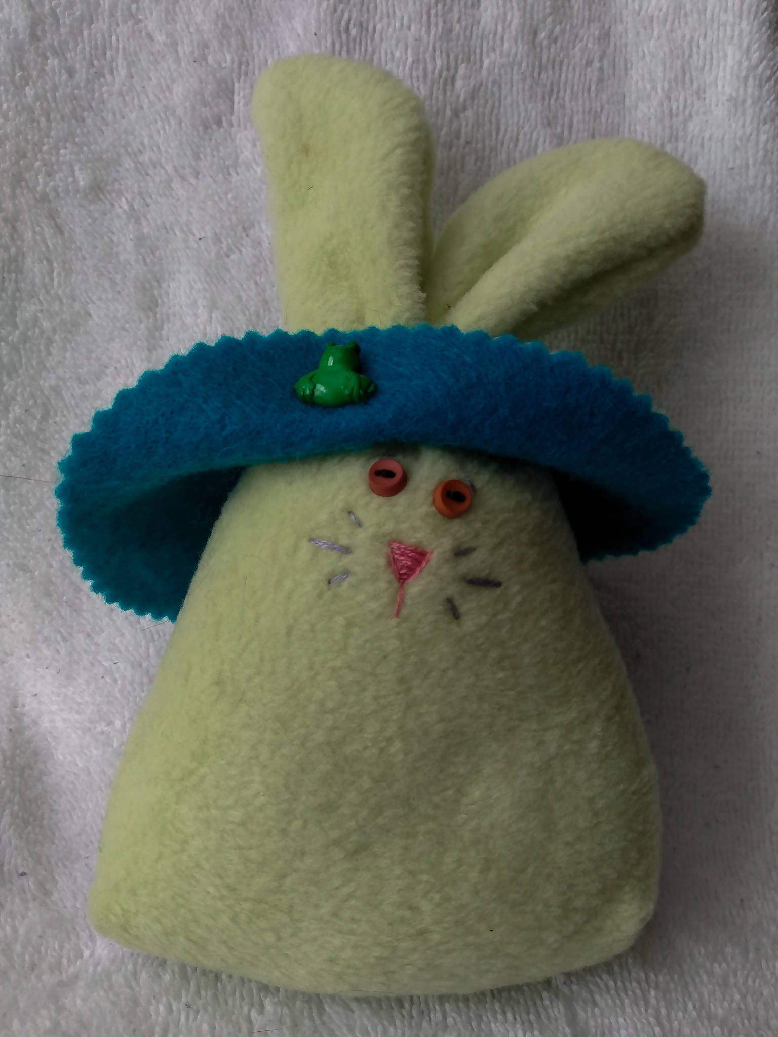 Lemon-Lime Bunny with Tie-Dyed Bonnet