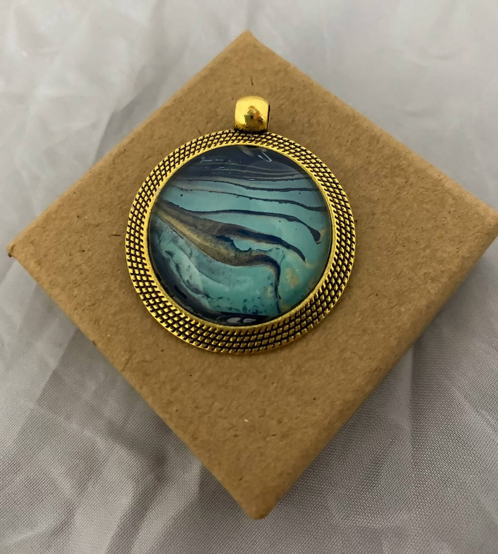 Navy/Teal Pendant