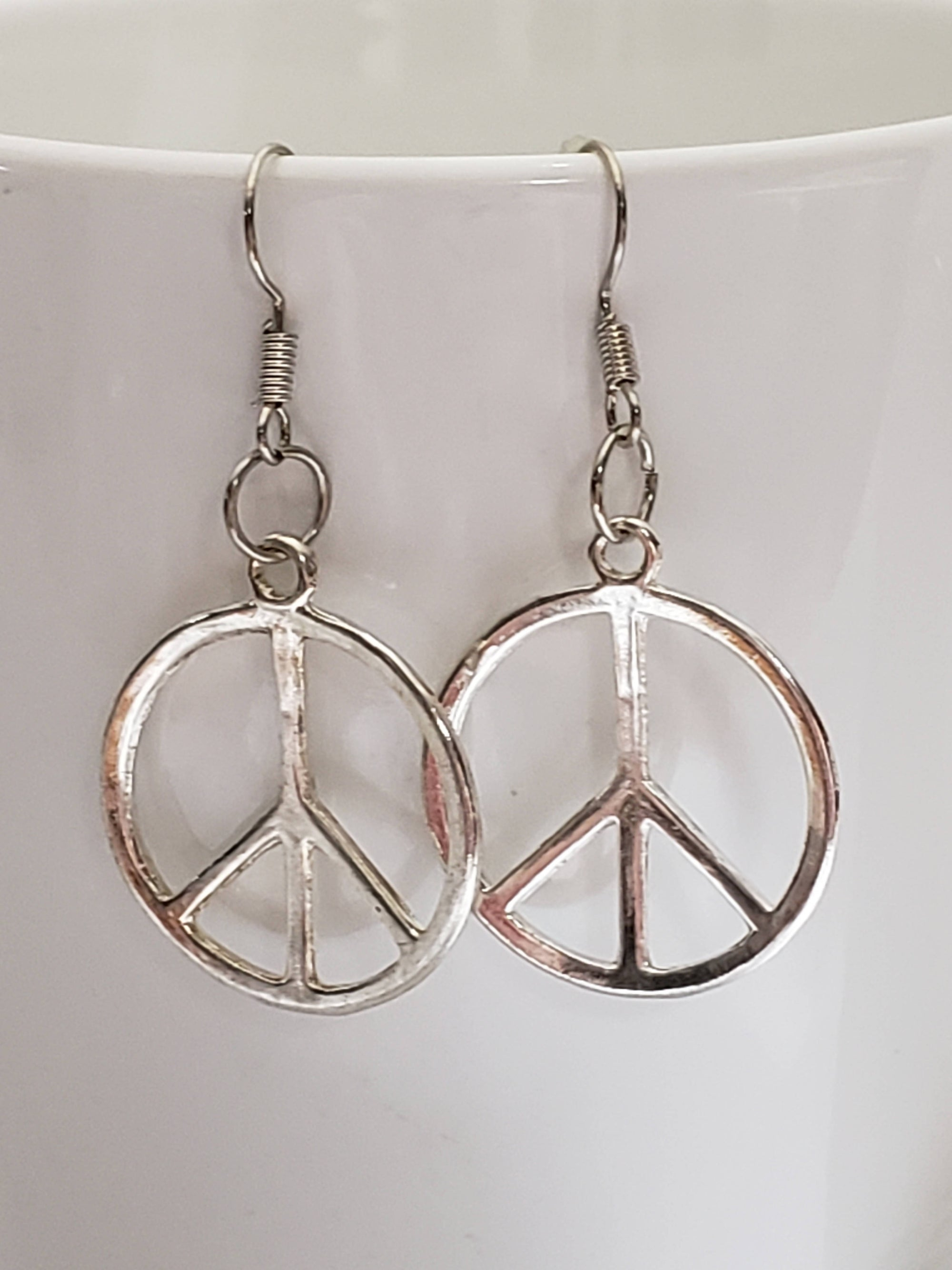 """FREE SHIPPING"" Peace Sign Earrings"