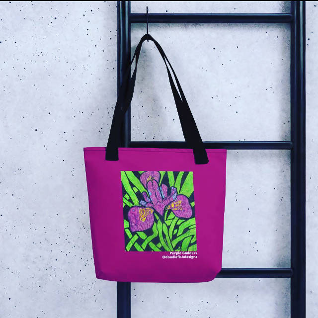 Purple Goddess Tote Bag