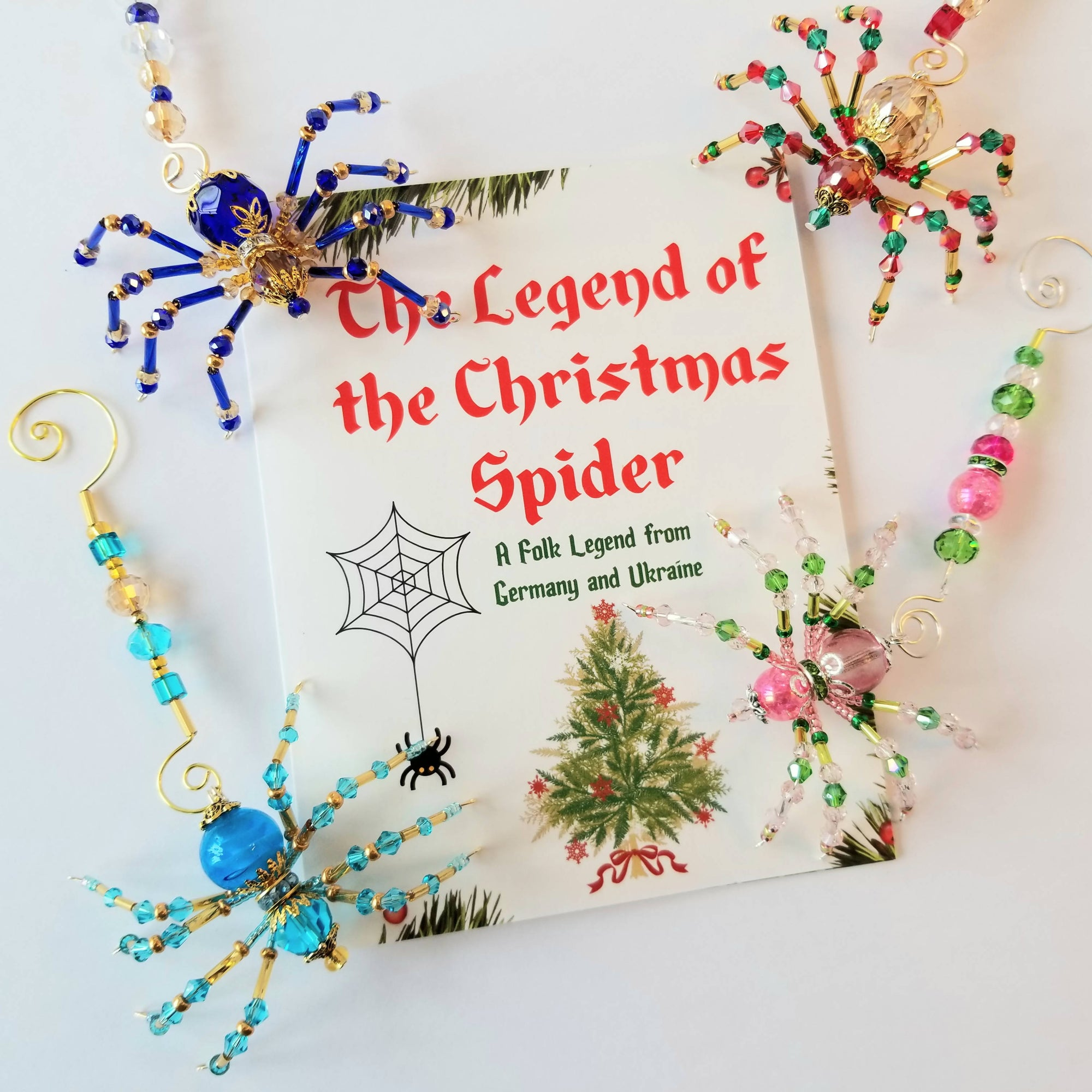 """Christmas"" Spiders Beaded Ornament & Suncatcher"