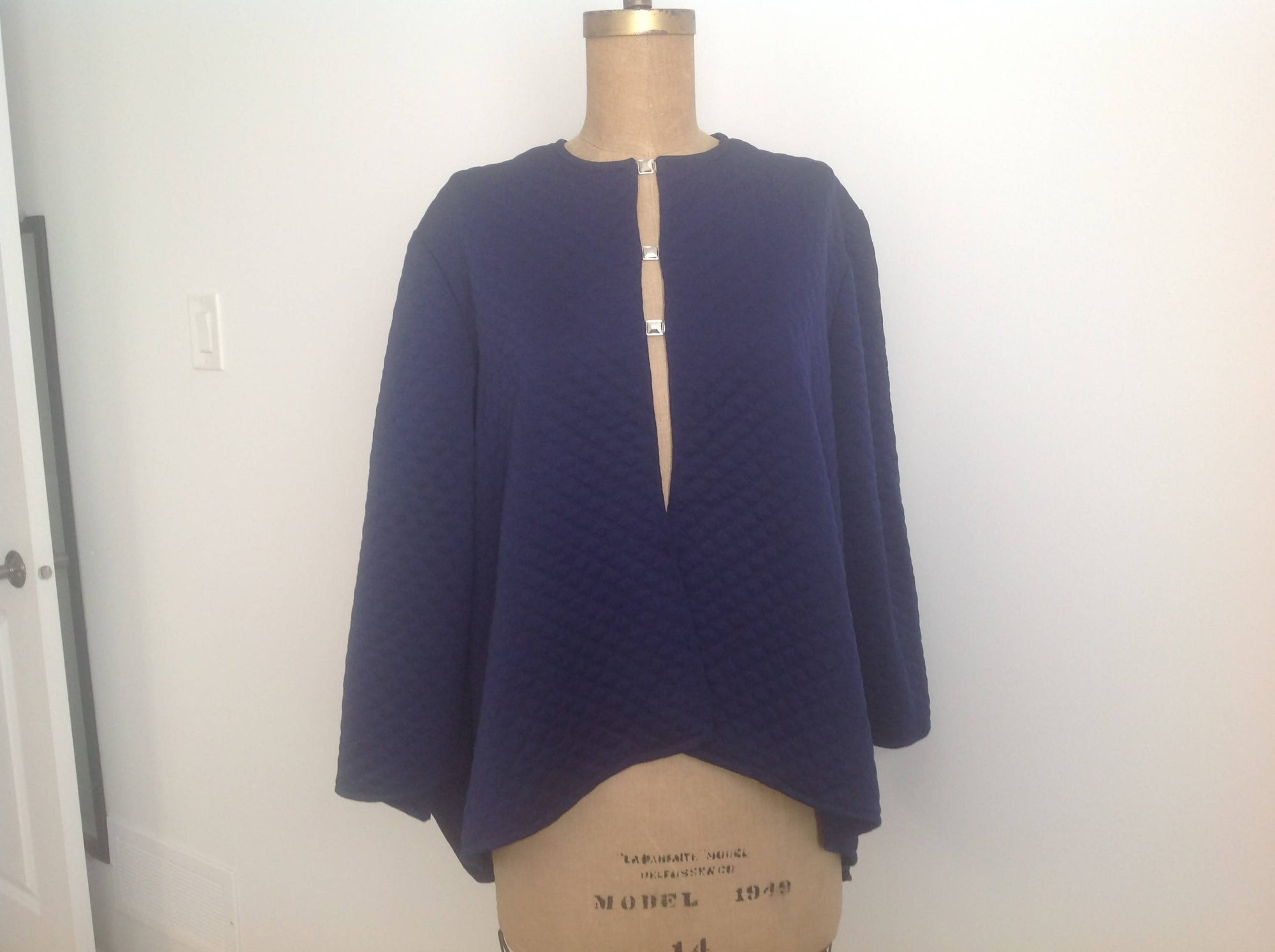 Knit cardigan, navy
