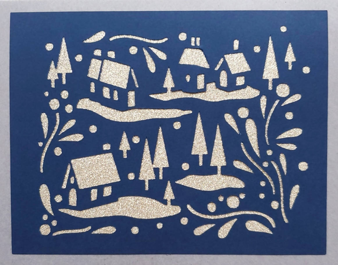 Snowy Village Card (2 Styles Available)