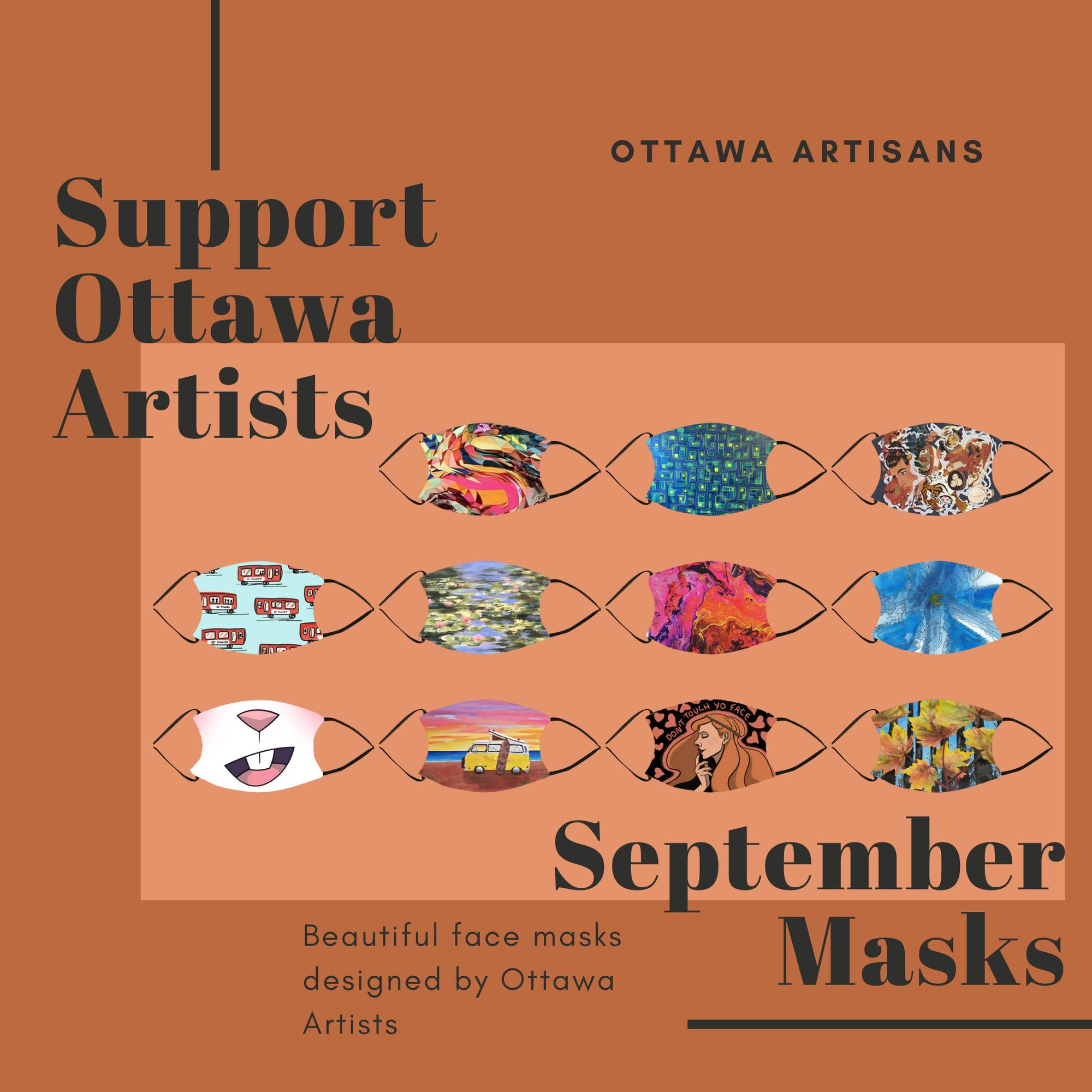 Ottawa Artist Masks - September