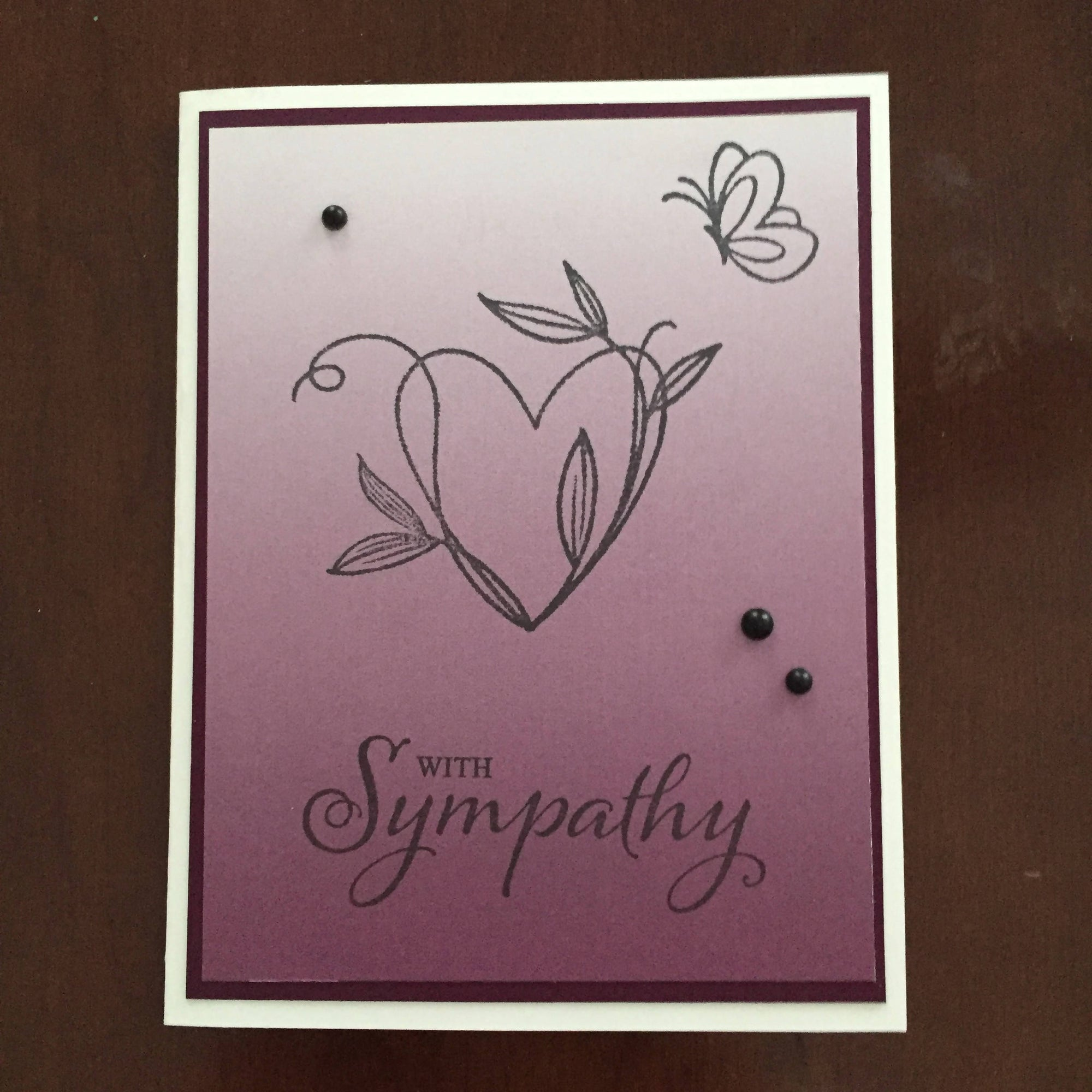 Canadian Stamper Sympathy Card with free shipping