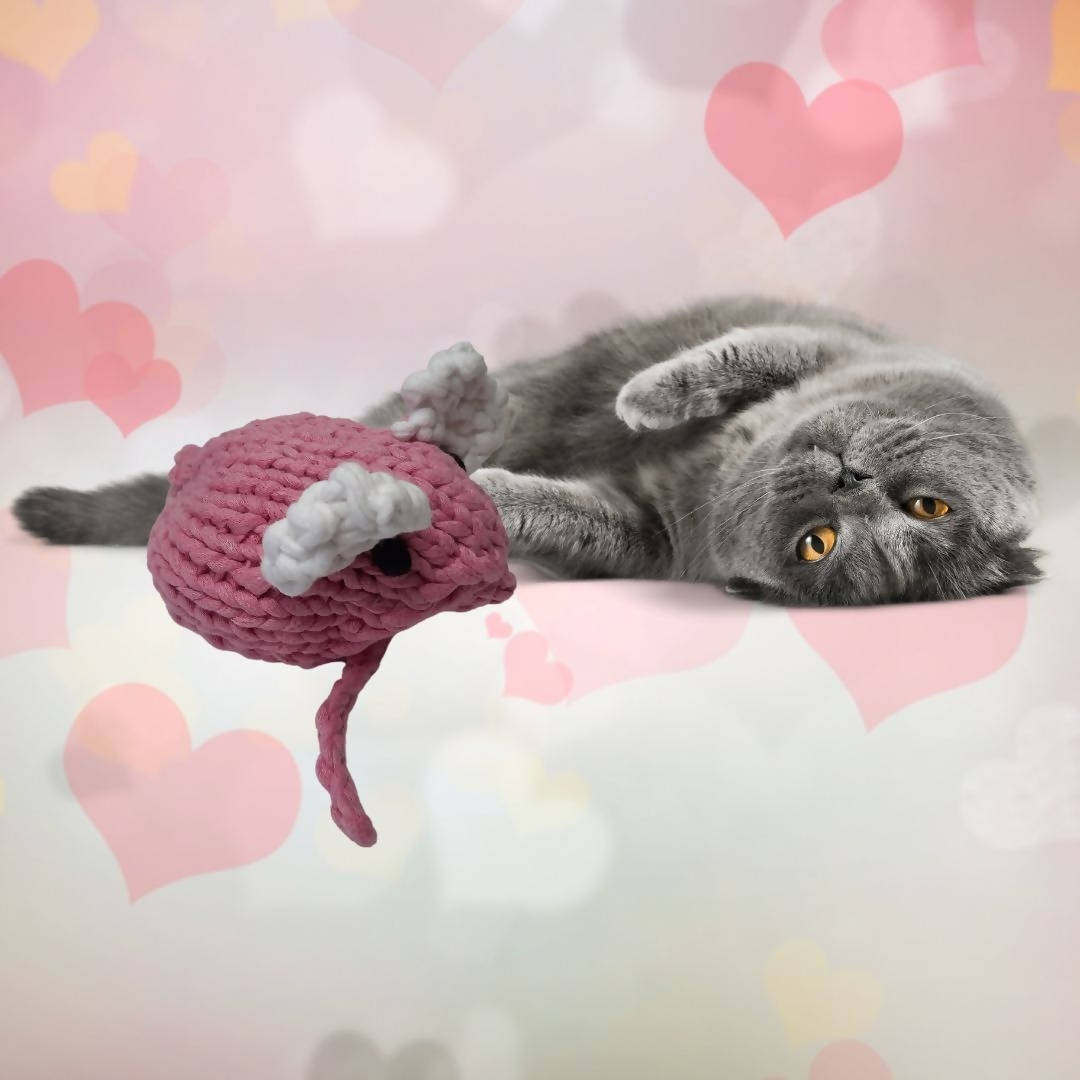 Valentine Mouse (Stuffed Cat Toy)