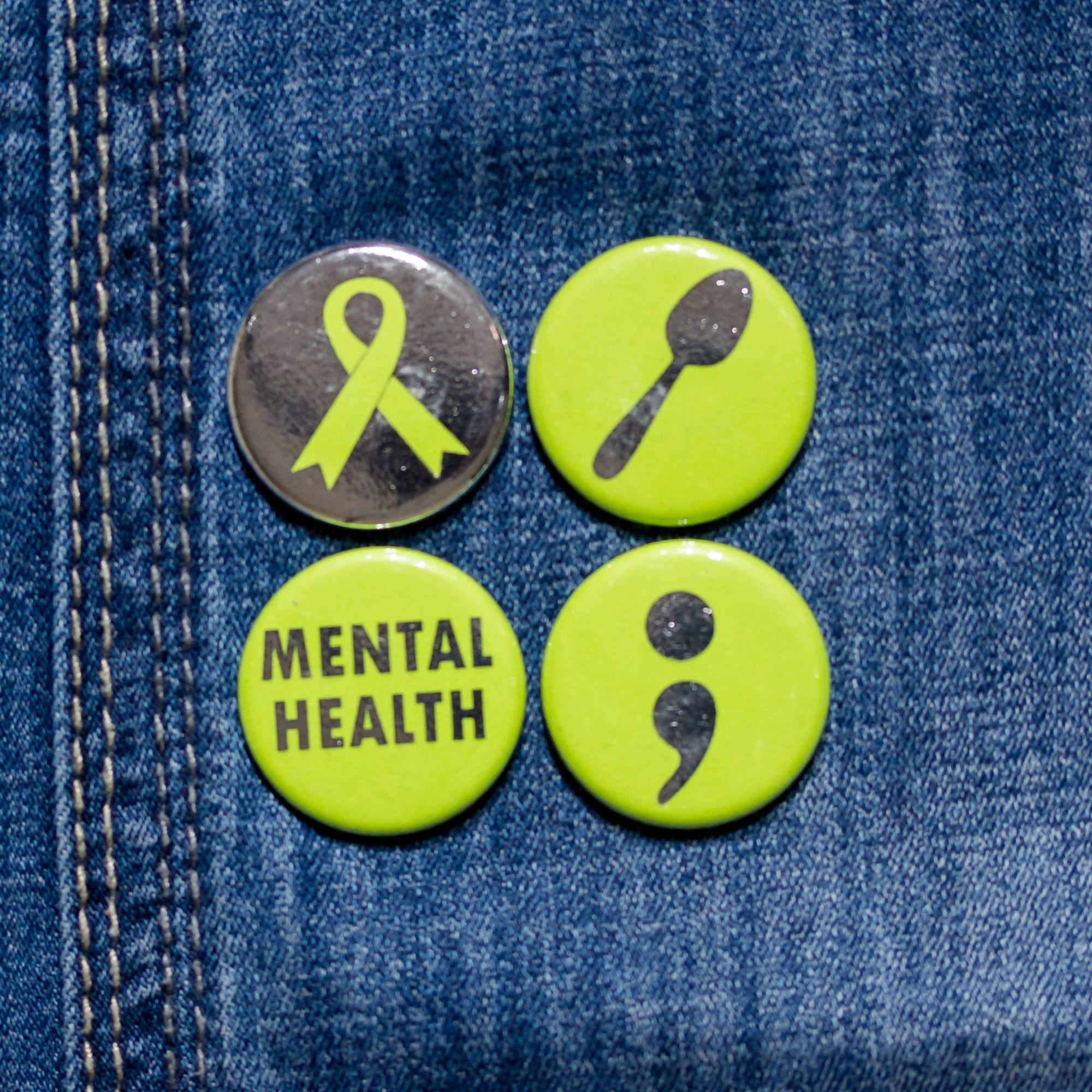 Mental Health Advocacy Customizable Buttons or Strong Ceramic Magnets - Mental Health Awareness - Supports LGBT Youthline